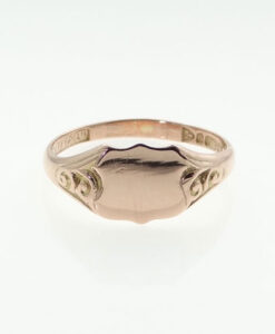 vintage 9ct rose gold signet ring