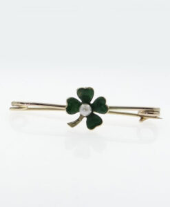 four leaf clover brooch
