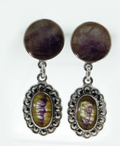 blue john earrings