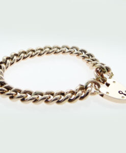 rose gold curb bracelet
