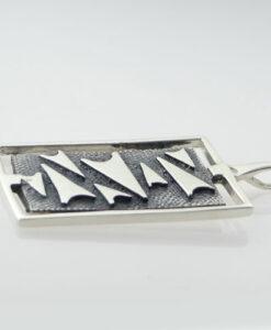 Vintage Silver Malcolm Gray Pendant