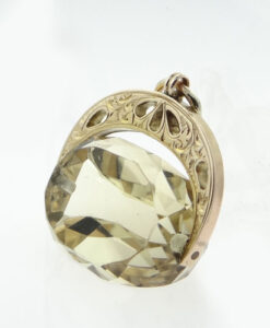 Gold Citrine Spinner Fob