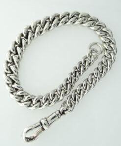 vintage silver albert bracelet