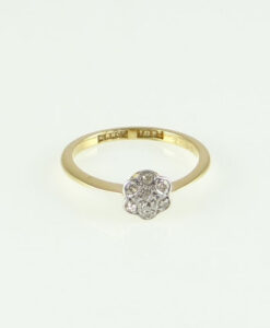 gold Diamond Daisy Ring