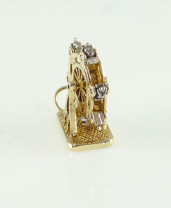 9ct gold moving ferris wheel charm