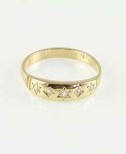 Gold Five Stone Diamond Ring