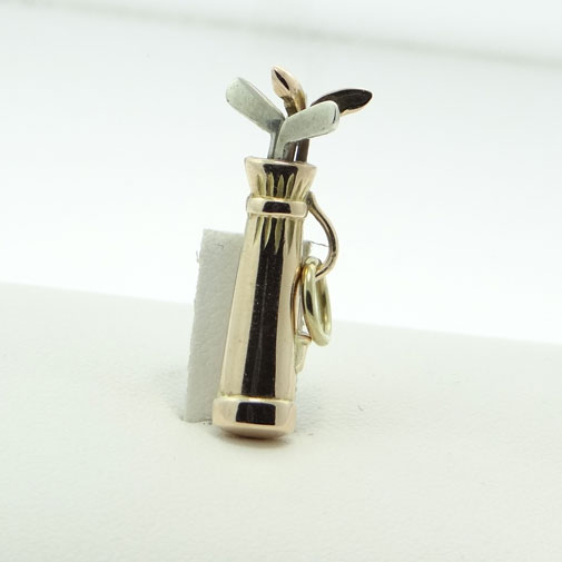 Vintage Golf Clubs in Bag Charm
