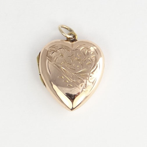 Antique 9ct Rose Gold Heart Locket