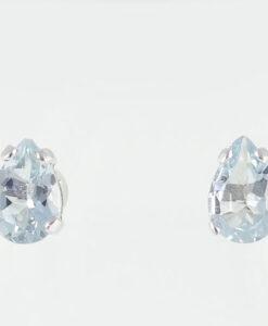 Aquamarine Pear Stud Earrings