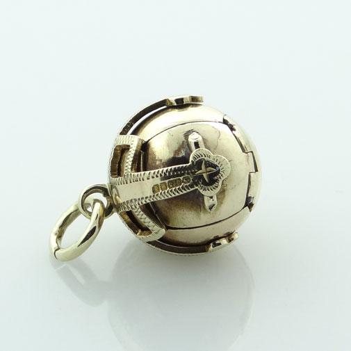 Vintage 9ct Gold Masonic Orb Ball - Birmingham 1979