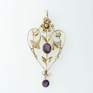 Victorian amethyst pendant