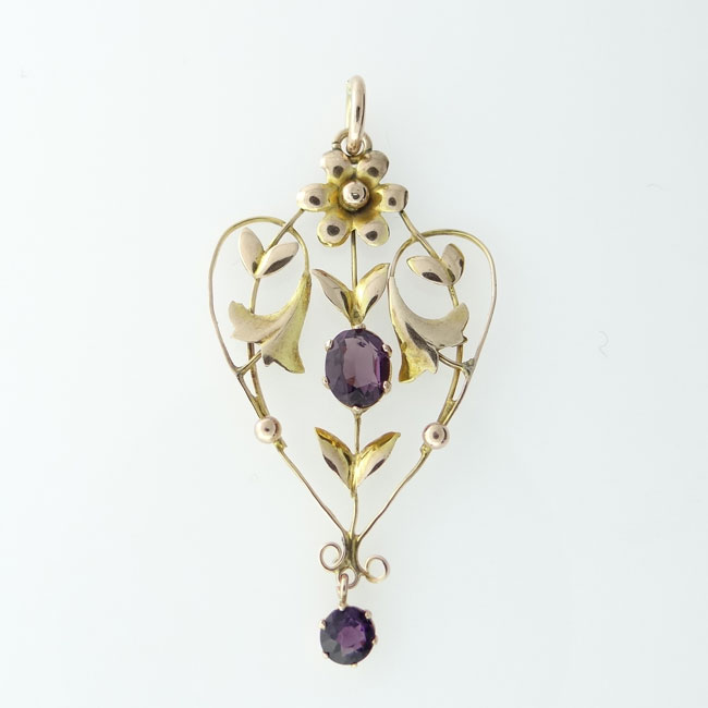Antique 9ct rose gold amethyst pendant the jewellery warehouse victorian amethyst pendant mozeypictures Gallery