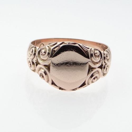 Rose Gold Signet Ring