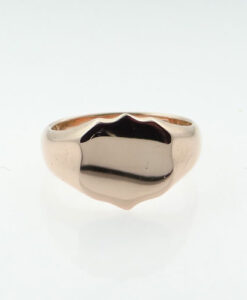 Rose Gold Shield Signet Ring