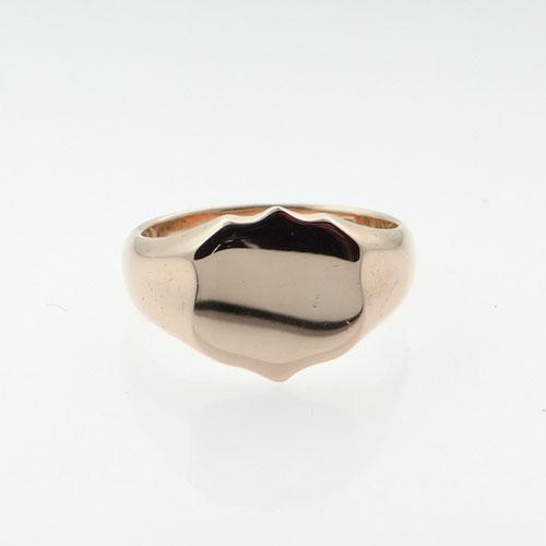 Rose Gold Shield Signet Ring