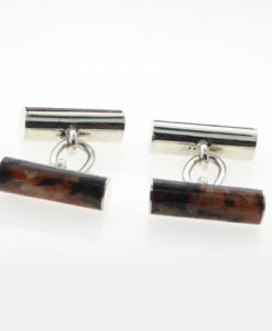 moss agate tube cufflinks