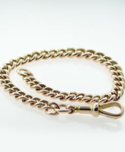 antique gold albert bracelet