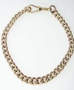 gold albert bracelet