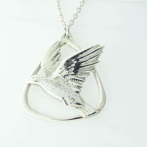 Silver Magnus Maximus Designs Bird Pendant