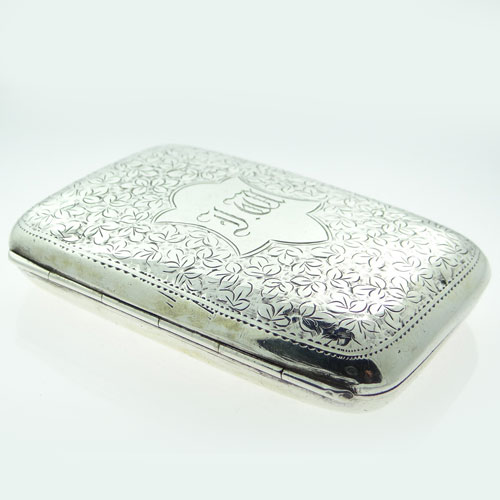 Antique Silver Cigarette Case