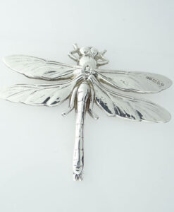 Vintage Silver Dragonfly Brooch