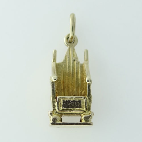 Gold Coronation Throne Charm 1952