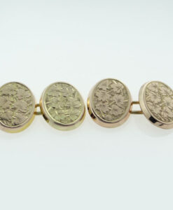 Antique Rose Gold Oval Cufflinks