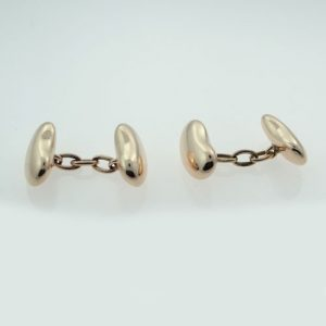 Rose gold Bean Cufflinks