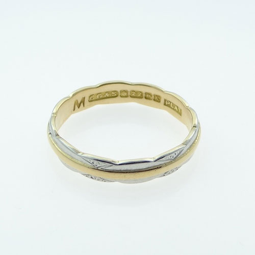 Vintage Wedding Ring Platinum