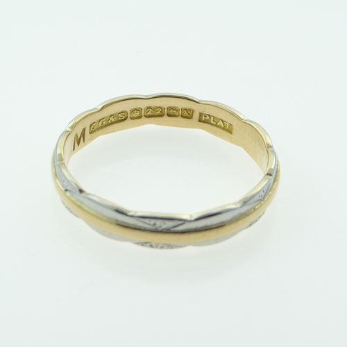 Platinum 22ct Gold Wedding Ring The Jewellery Warehouse