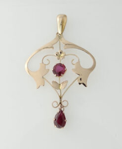 Victorian Gold Ruby Pendant