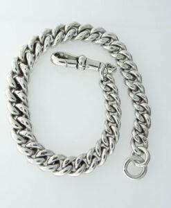 antique silver albert bracelet