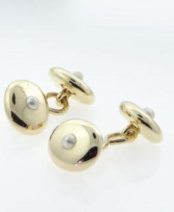 Antique Gold Pearl Cufflinks