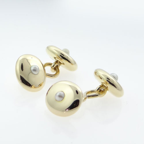 Antique Gold Pearl Cufflinks