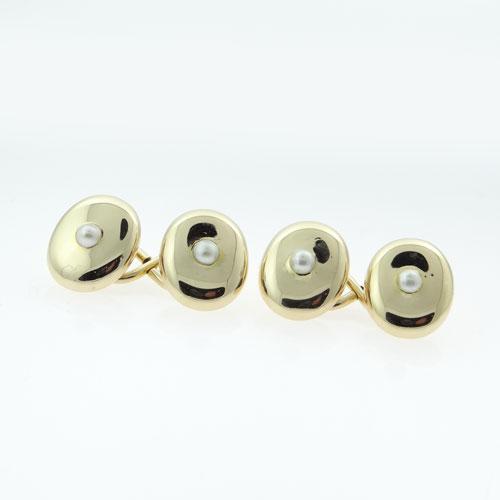 Antique 18ct Gold Pearl Cufflinks