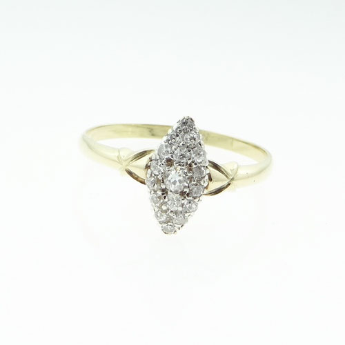 Antique 18ct Gold Diamond Cluster Ring