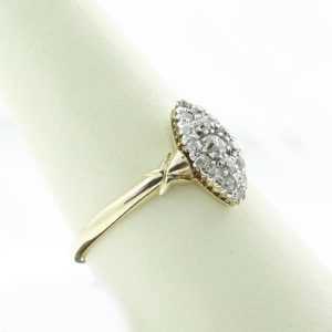 Gold Diamond Cluster Ring