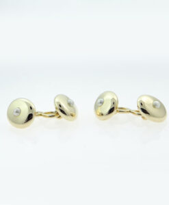 18ct Gold Pearl Cufflinks