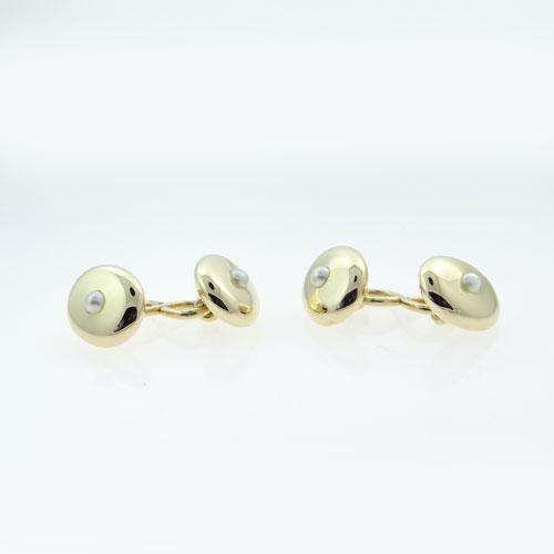 18ct Gold Pearl Cufflinks
