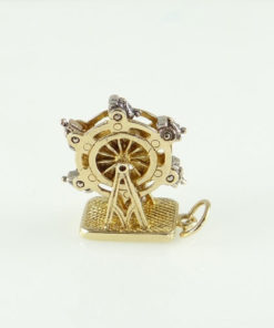 9ct gold moving ferris wheel charm