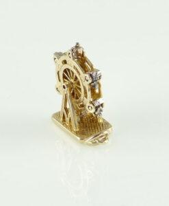 9ct gold ferris wheel charm