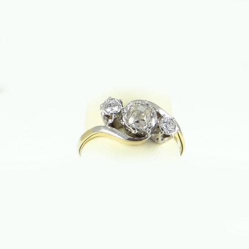 Antique 18ct Gold Diamond Twist Ring
