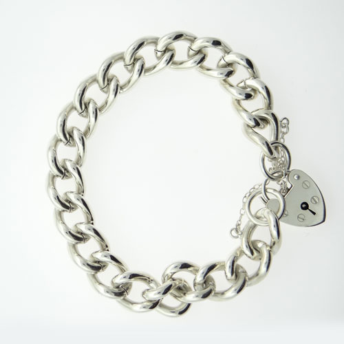 ff03286480b7 Sterling Silver Graduated Albert Bracelet