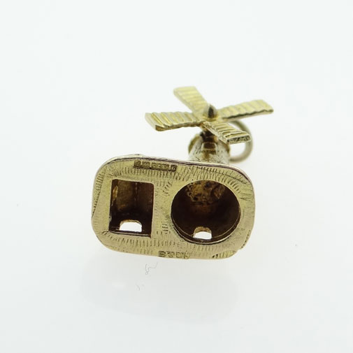 Vintage Gold Moving Windmill Charm