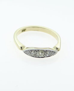Antique 18ct Gold Five Stone Diamond Ring