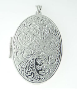 Large Sterling Silver Oval Locket