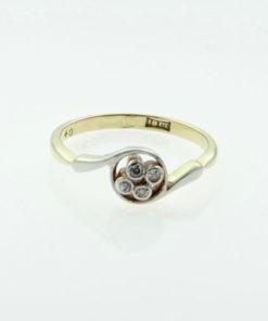 18ct Gold Four Stone Diamond Ring c1900-10