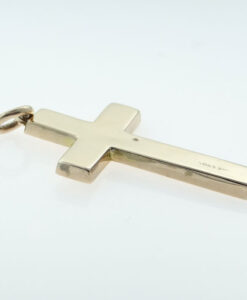 Antique 9ct Rose Gold Engraved Cross