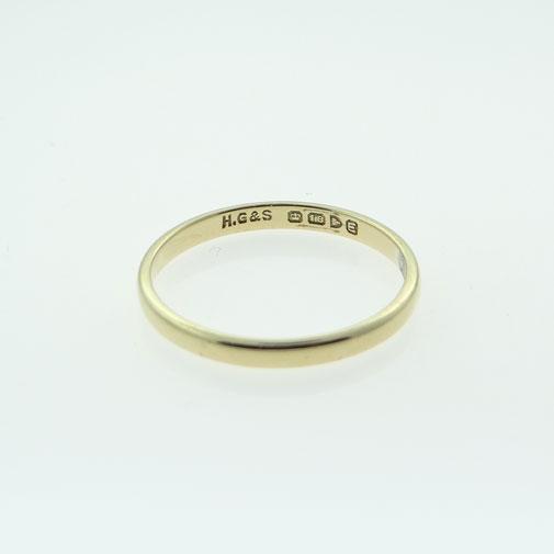 Vintage Gold Wedding Band Ring
