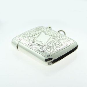 Antique Sterling Silver Vesta Case
